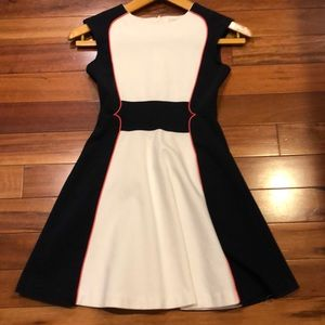Girls size 10 Navy and White with red trim Dress.